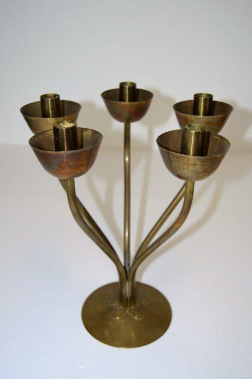 Hano Fokken Brass Candelabra