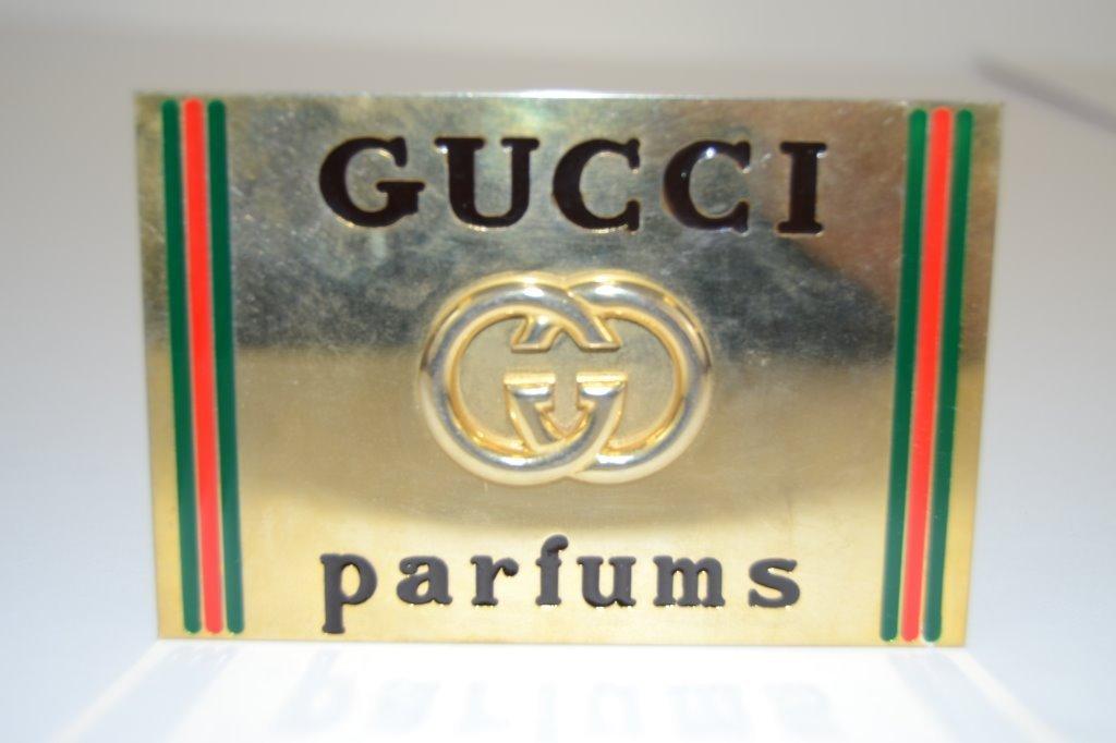 Vintage Gucci Parfume Sign