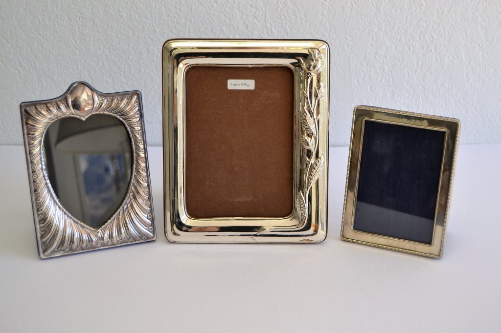 Lot of Three Sterling Picture Frames