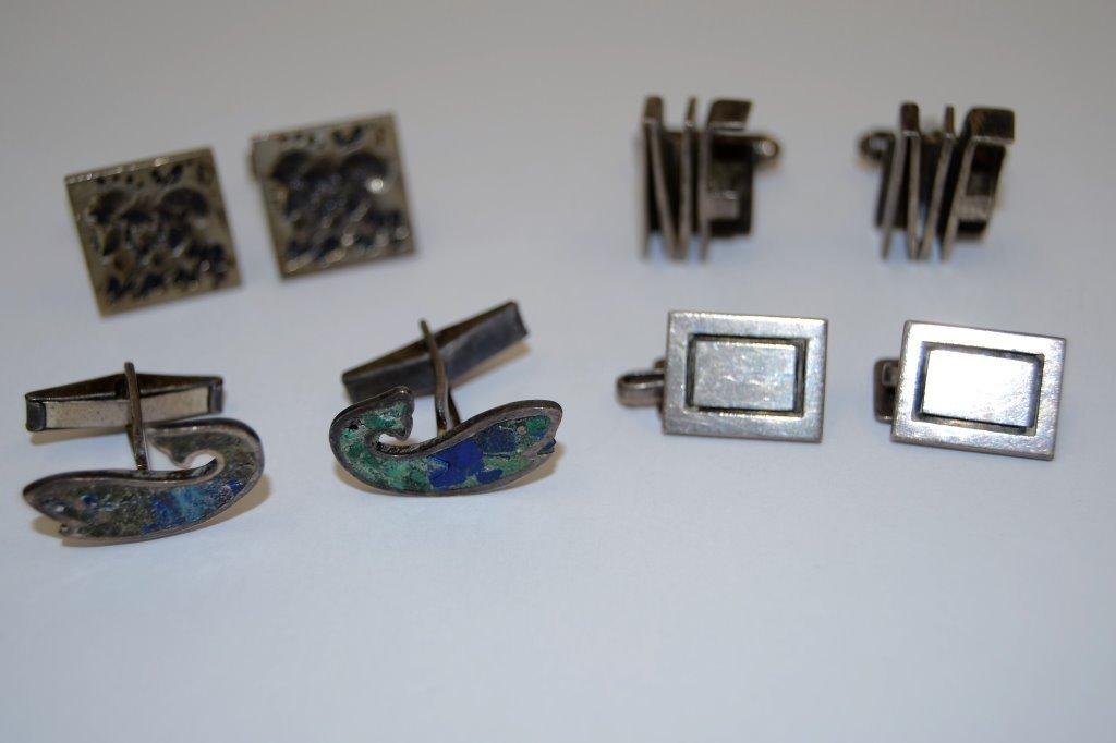 Vintage Sterling Cuff Link Sets