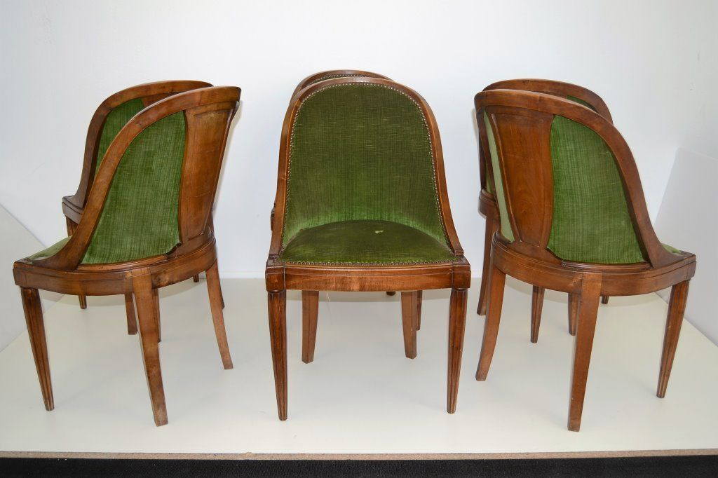 Sue et Mare Style Art Deco Dining Chairs Set of Six