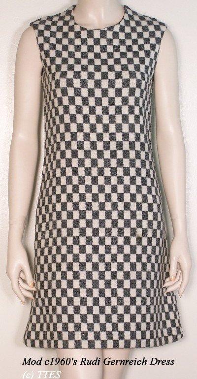 404: Mod c1960's Rudi Gernreich Designer Dress