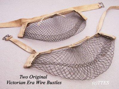 419: Two Original Victorian Era Wire Bustles