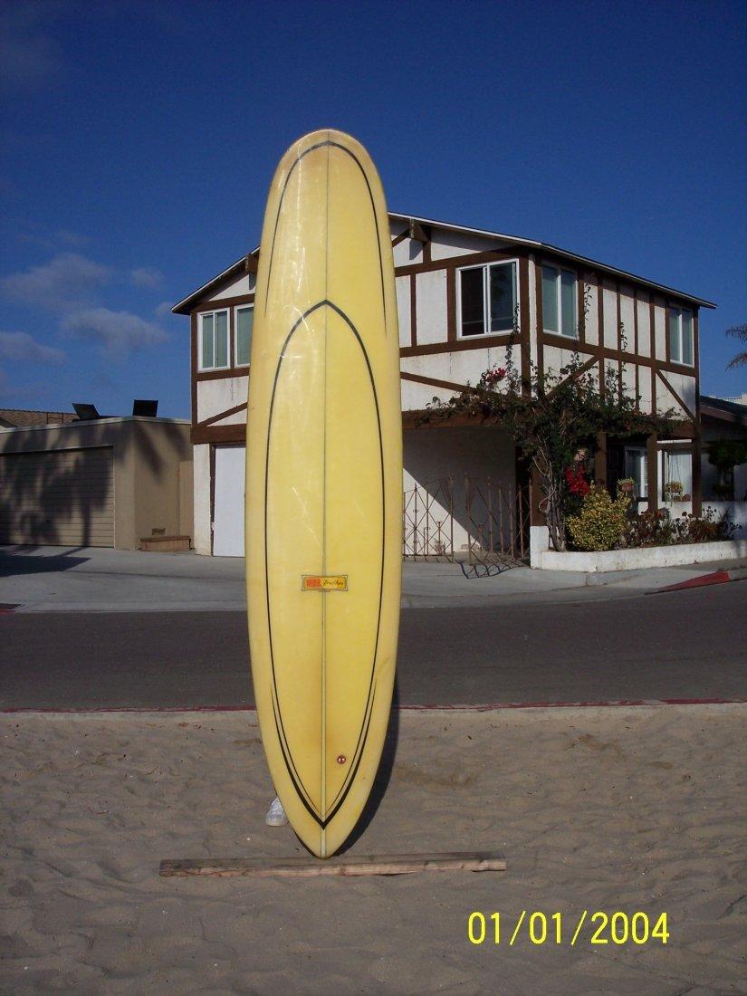 102: 1967 Feather Super Lightweight Surfboard {Weber}
