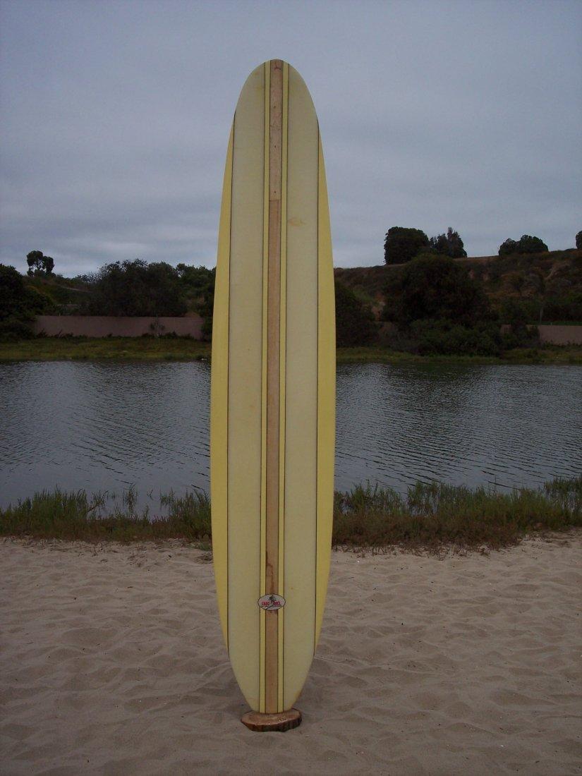 103: 1962 Balsa Stringer Surfboard {Greg Noll}