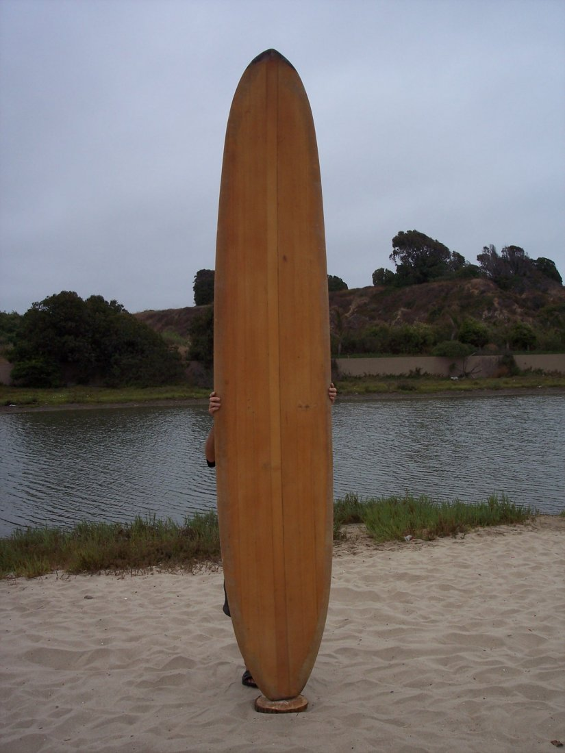 107: 1960 Restored Balsa Surfboard