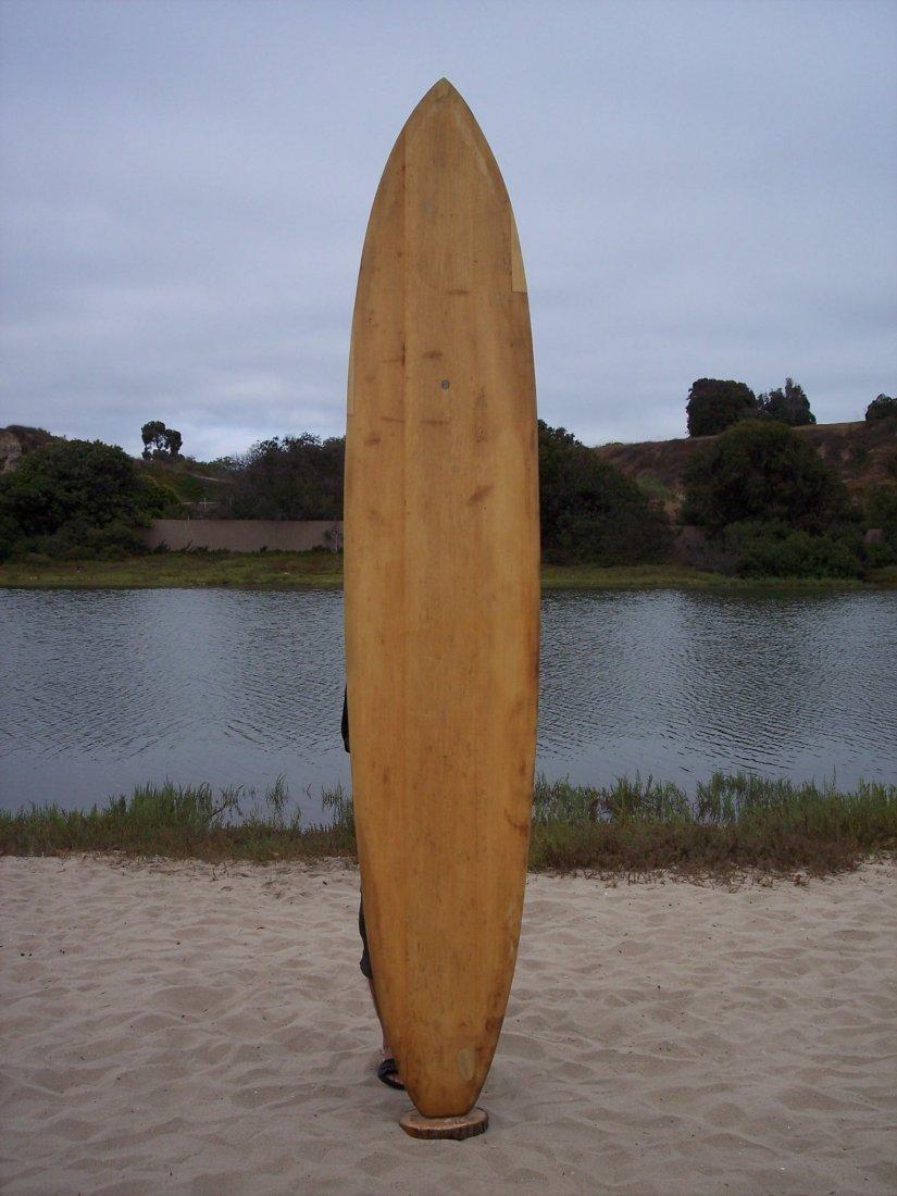 110: 1957 Hawaiian Balsa Surfboard