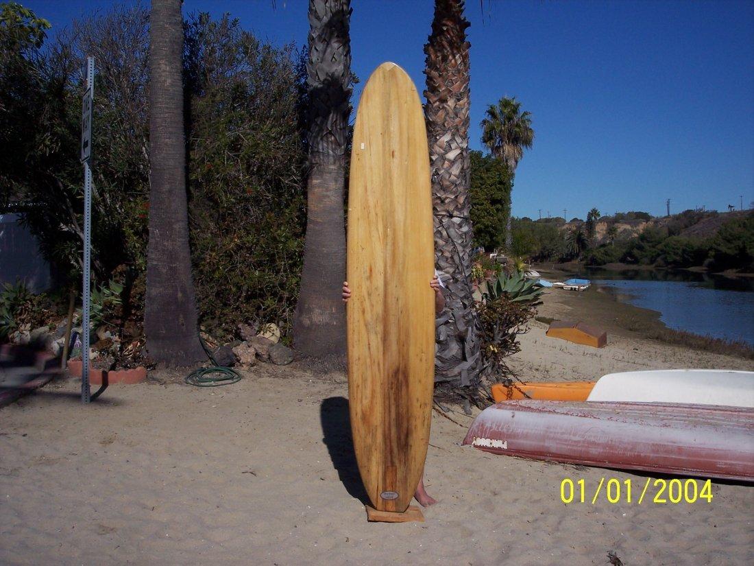 113: 1959 Restored Balsa Surfboard {Velzy}