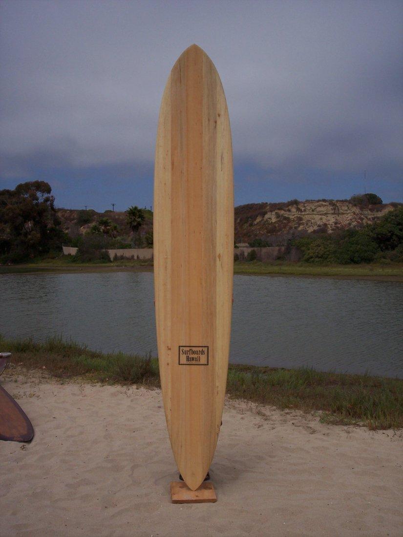114: Autographed Balsa Gun Surfboard {Dick Brewer}