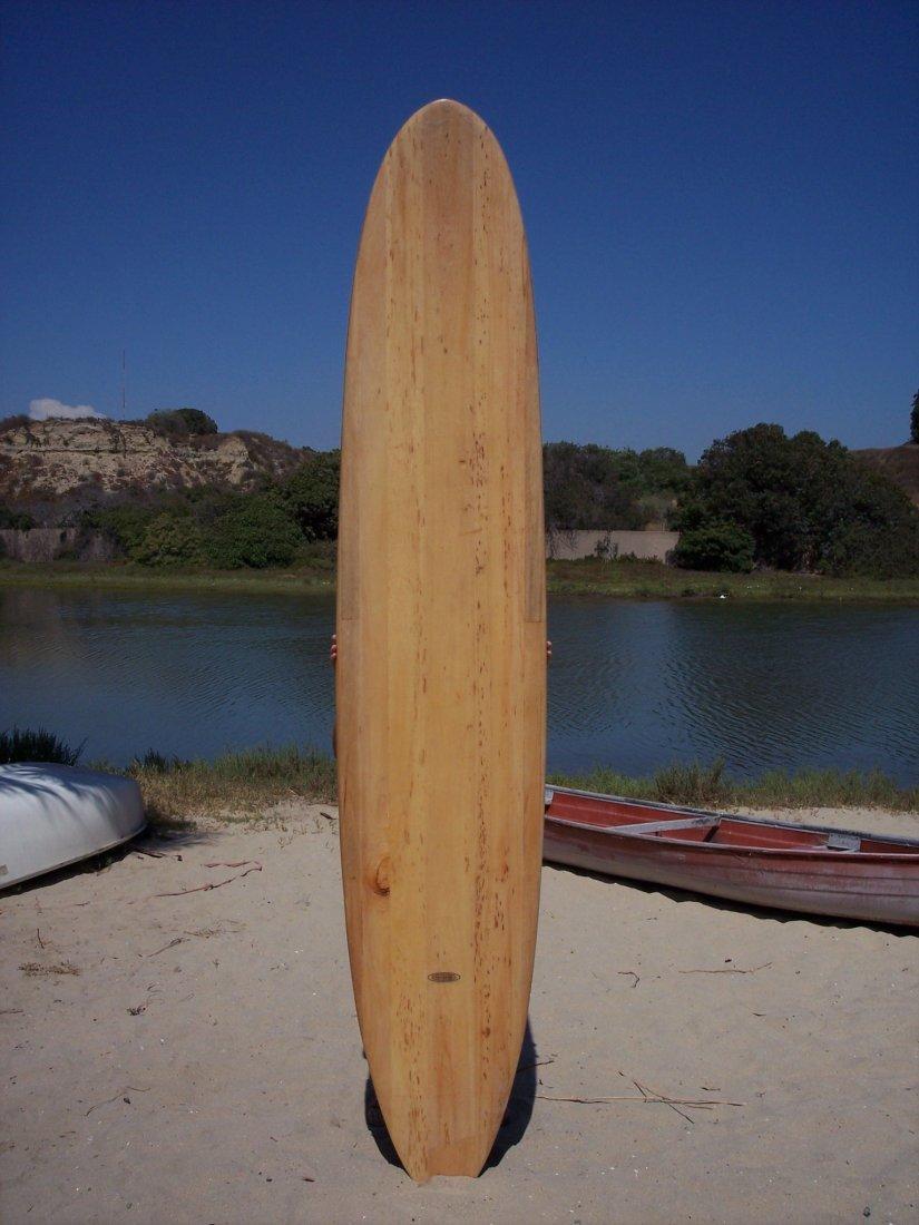 116: 1964 Santa Barbara Balsa Surfboard {Ike}