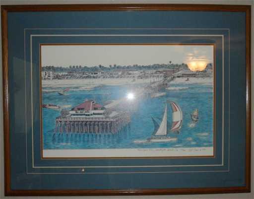 185 Quot Huntington Beach Pier Quot Painting Ted Crane