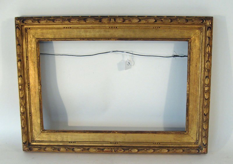 7: Foster brothers carved gilt wood frame, interior mea