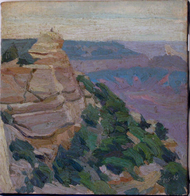 "11: Paul Inglis oil on canvas, ""Grand Canyon Arizona 8-"