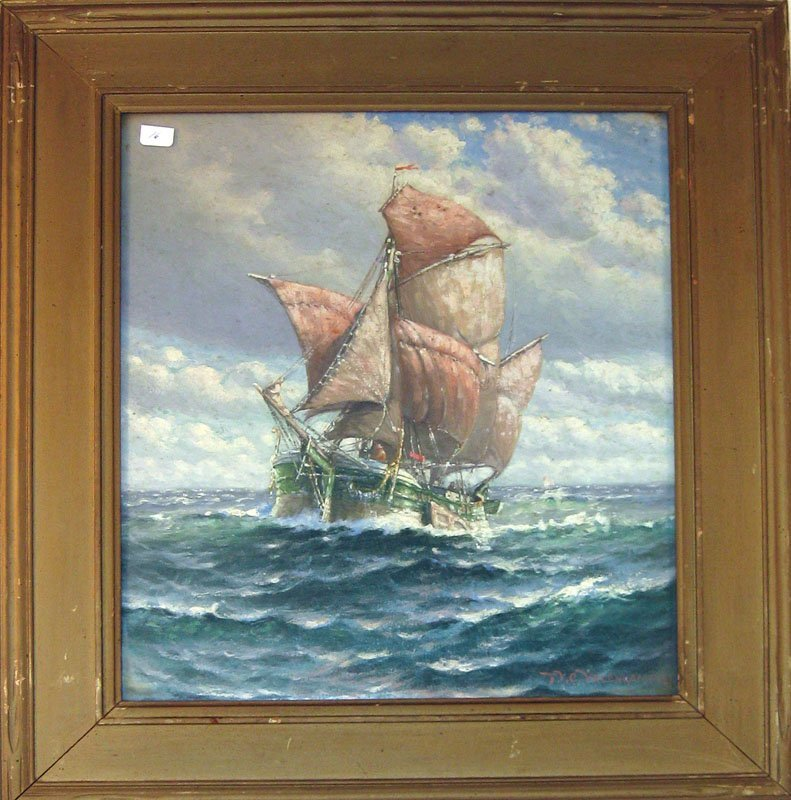 16: Theodore Victor Carl Valenkamph oil on canvas marin