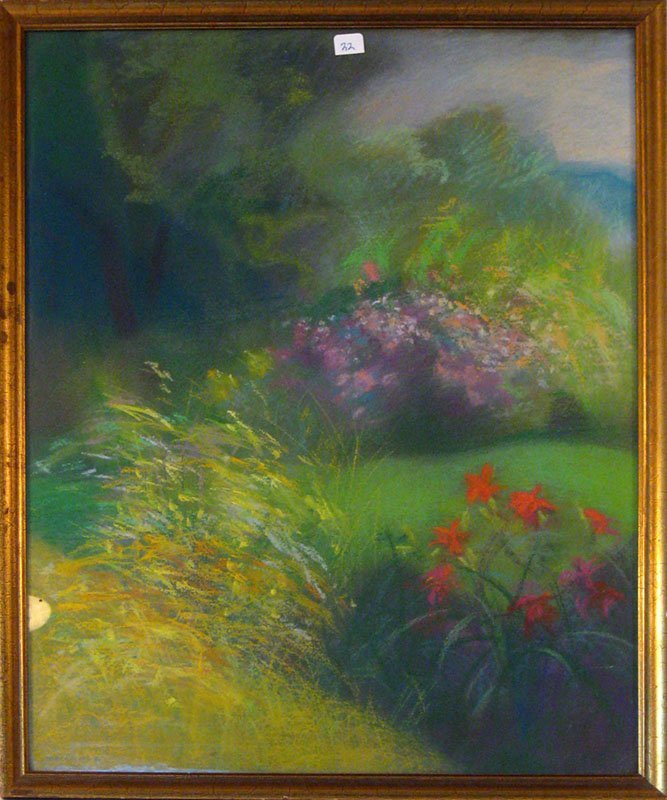 22: Ron Markowicz pastel landscape, 22 by 17 inches, si