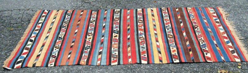 50: Antique Turkish flat weave carpet, 9 feet 2 inches