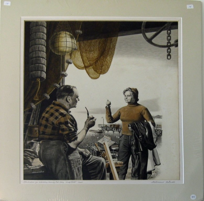 "Melbourne Brindle gouache illustration, ""Illustration f"