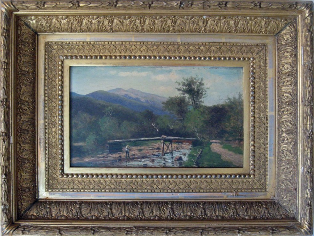 """Frank Henry Shapleigh oil on board, """"View of Mt. Washin"""