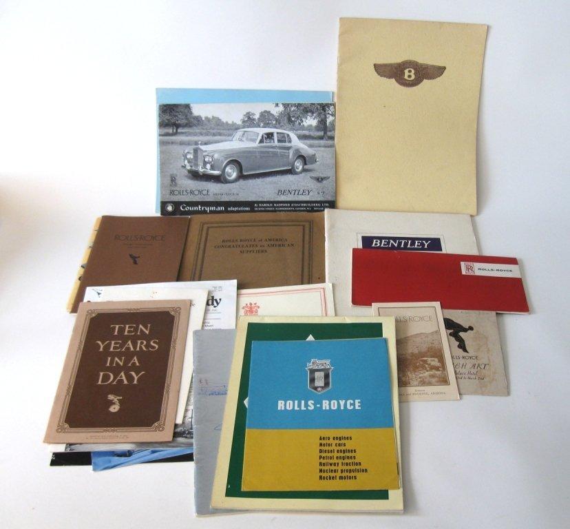 """Lot of 19 Rolls Royce and Bentley brochures: """"The Three"""