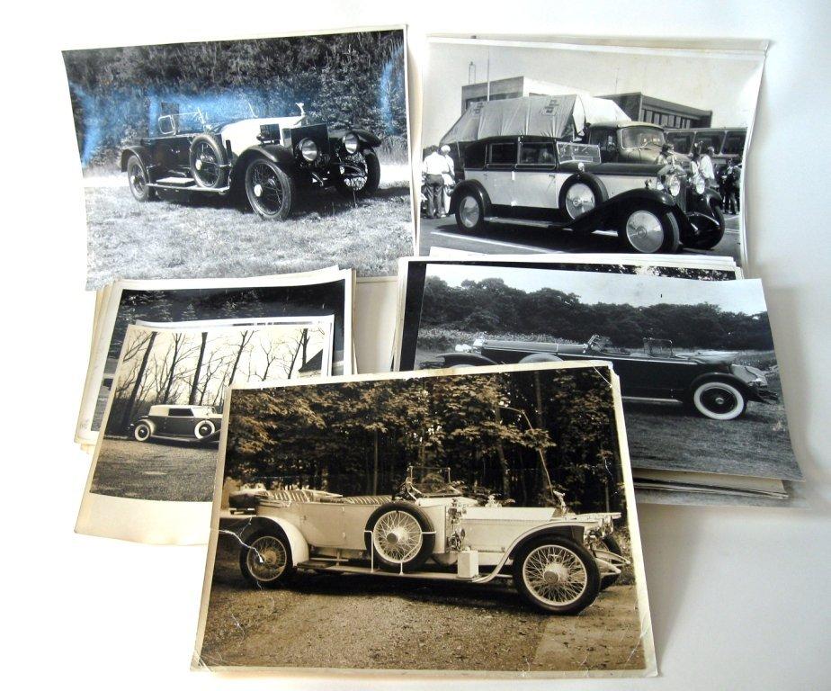 Approximately 25 vintage Rolls Royce photographs, large