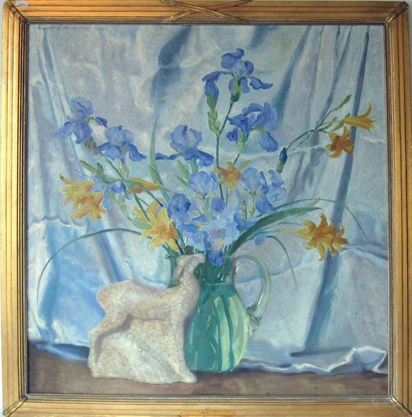Kenneth Stevens MacIntire oil on board floral still