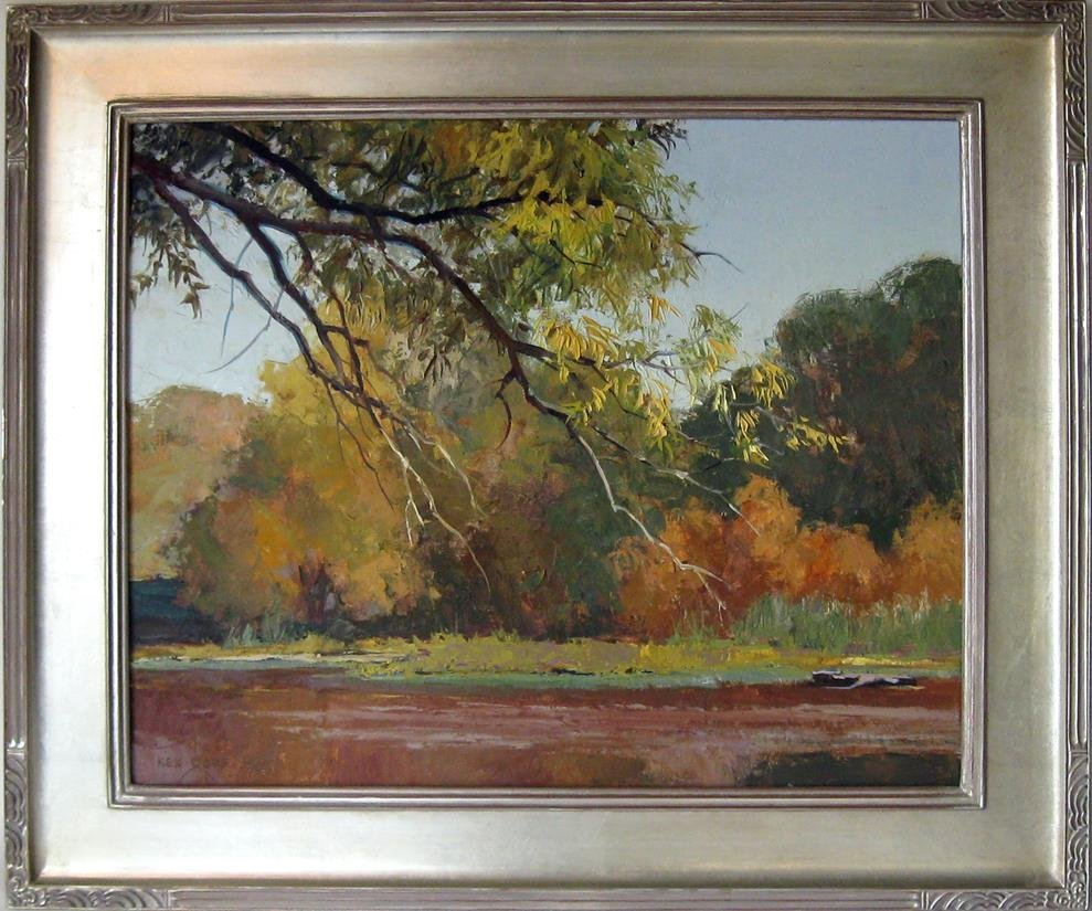 Ken Gore oil on Masonite, 20 by 24 inches, signed lower