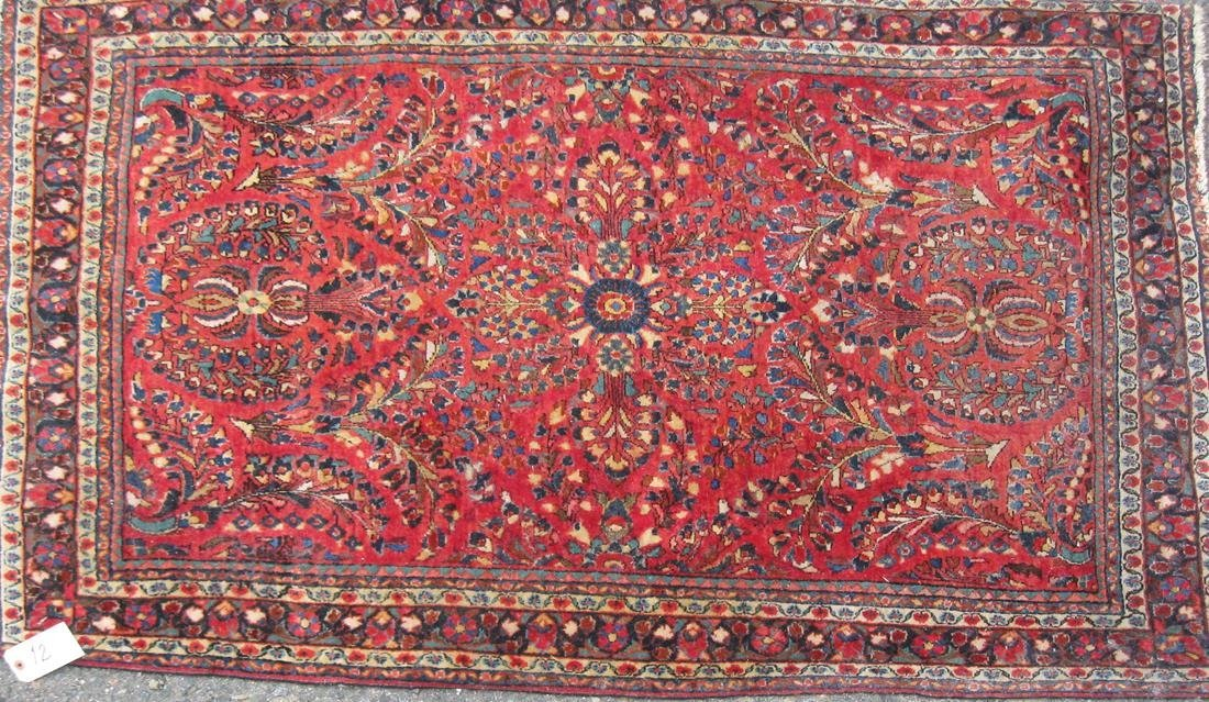 """Old Persian Sarouk Oriental rug, 58"""" by 40"""" Condition:"""