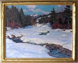 * Aldro Thompson Hibbard oil on canvas winter