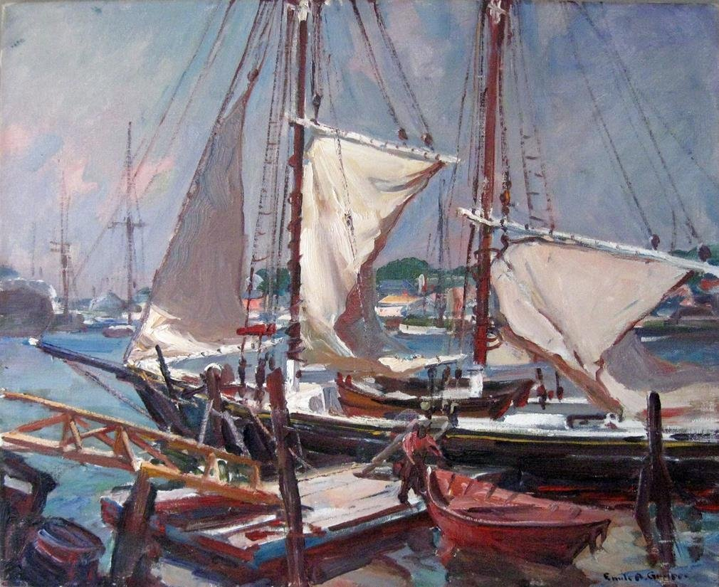 Emile A. Gruppe oil on canvas, 25 by 30 inches, signed