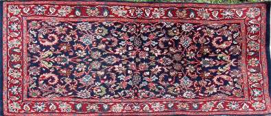 """Old Persian Oriental scatter rug, 36"""" by 66,"""""""