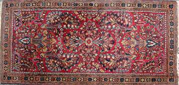 Old Sarouk Persian Oriental scatter rug 48 by 24