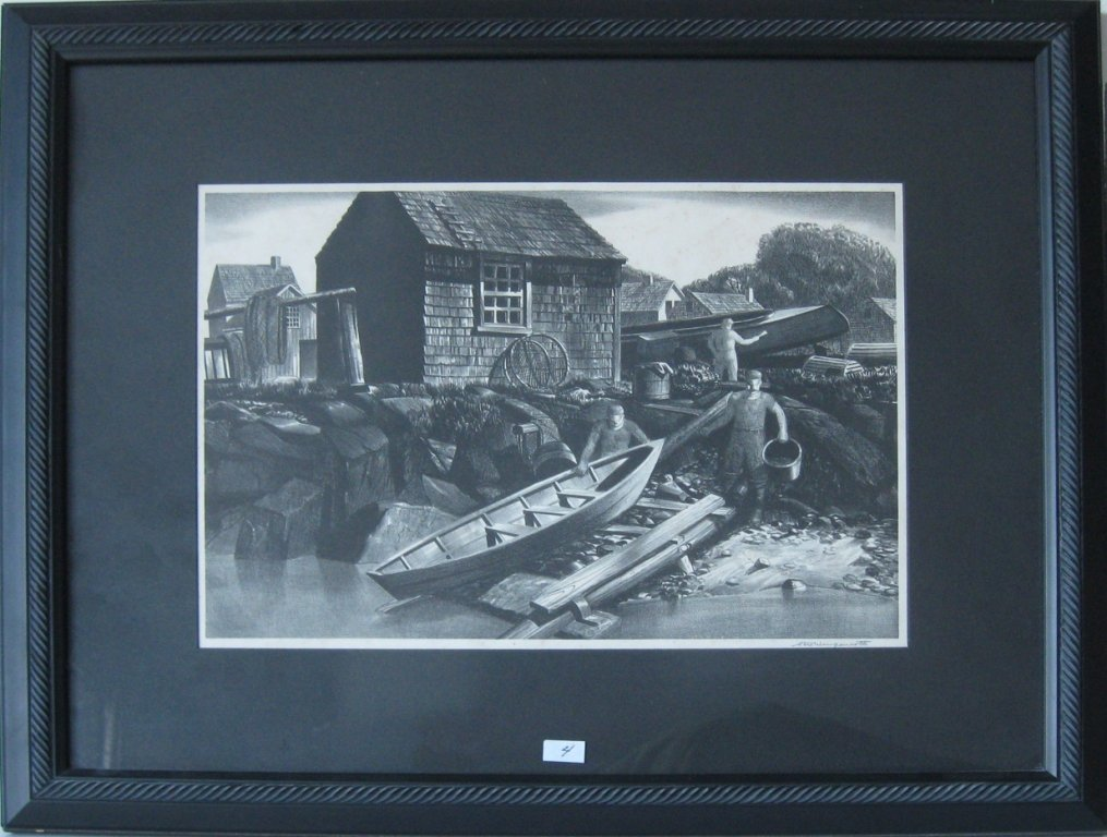 """Stow Wengenroth lithograph, """"Kindred McLean Print,"""""""