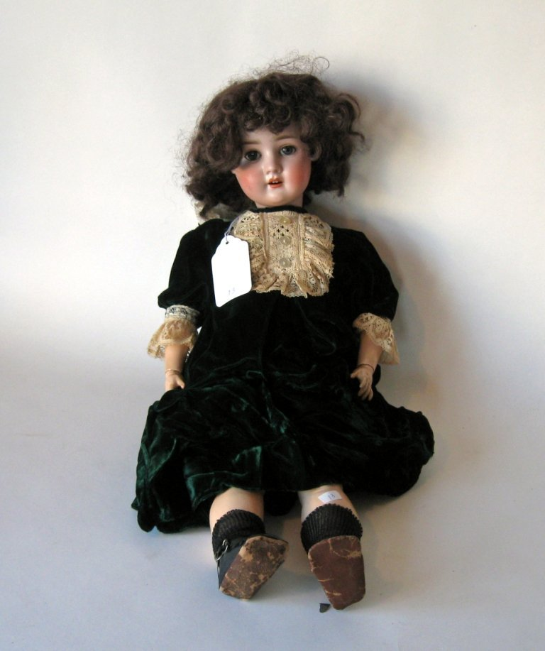 """Bisque-headed doll marked, """"Germany S (PB) H 914- 10,"""""""