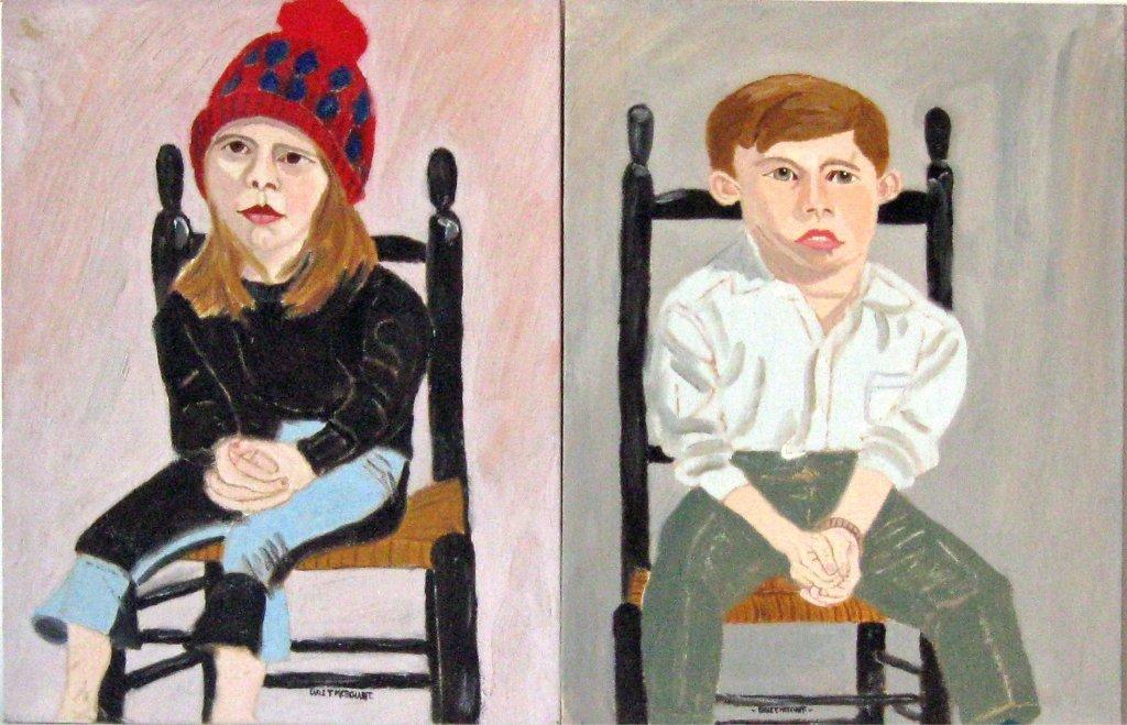 Lot of 2 Earl T. Merchant oils on board portraits,