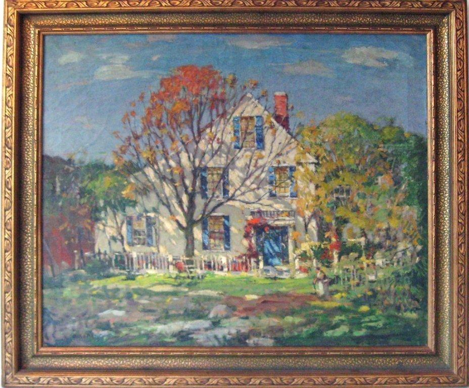 "*Antonio Cirino oil on canvas , ""Passing Autumn,""  25"