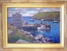 Donald Allen Mosher oil on canvas Mohegan Island
