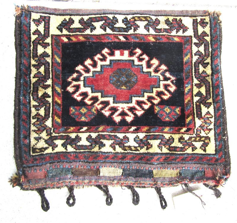 Old Shiraz Oriental bag, 20 by 24 inches.