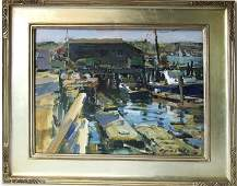 *Charles Movalli oil on board view of Smith's Cove,
