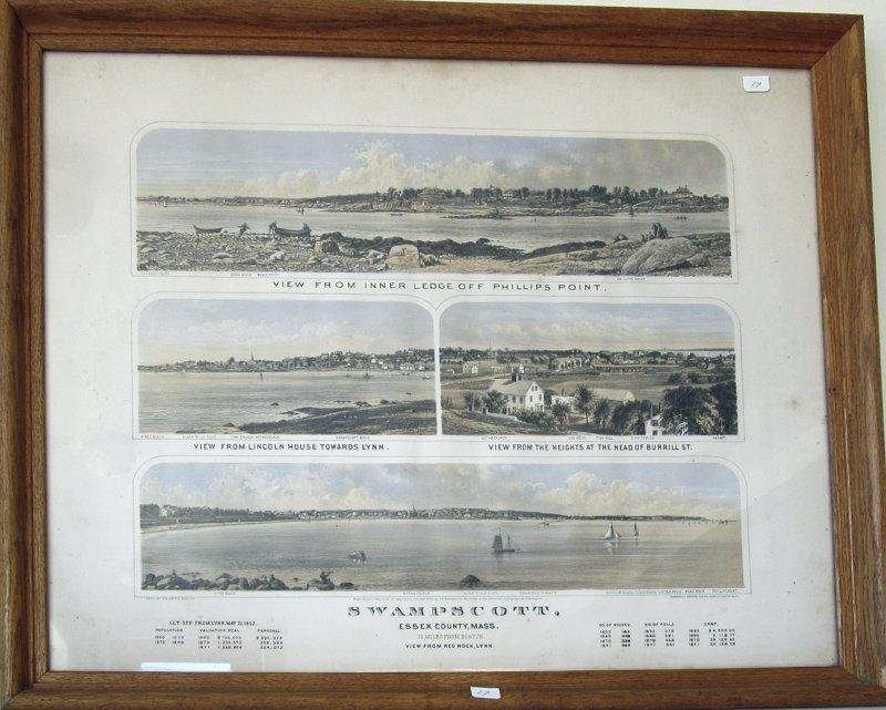 J. H. Bufford 1877 lithograph of Swampscott,