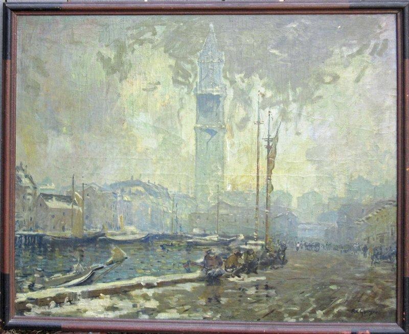 *Arthur Clifton Goodwin oil on canvas of the Boston