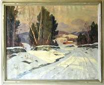 Cecil Chichester oil on canvas winter landscape with