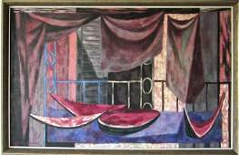 Paul Zimmerman oil on canvas modernist still life with