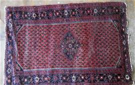 Old Persian Oriental rug, 34 by 48 inches.