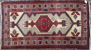Old Serab camelhair Oriental scatter rug 66 by 34