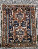 Antique Karaja Oriental scatter rug 50 by 34 inches