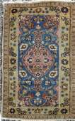 Old Tabriz Oriental scatter rug 45 by 26 inches