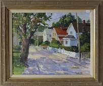 R. D. Murray Cape Ann street scene, 16 by 20 inches,
