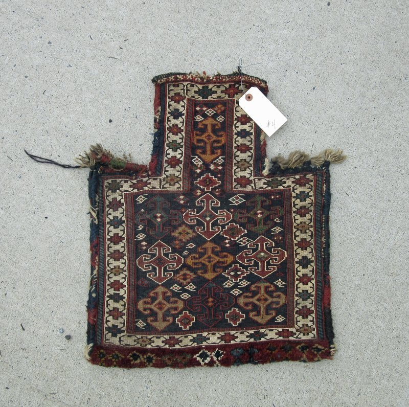 Old Soumak salt bag, 22 by 18 inches. Condition: good.