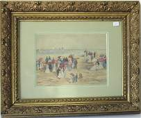 * Attributed to Maurice Prendergast watercolor beach