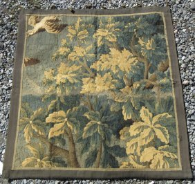 Antique Continental Tapestry Depicting Wooded Landscape